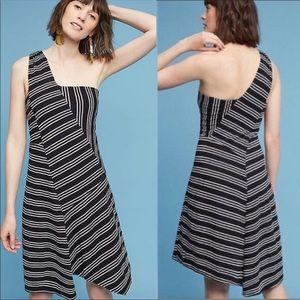 Anthropologie Maeve Mika One Shoulder Dress